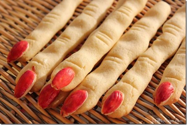 Galletas dedos de bruja para halloween
