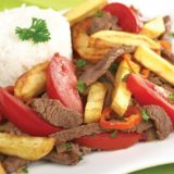 receta de Lomo saltado peruano
