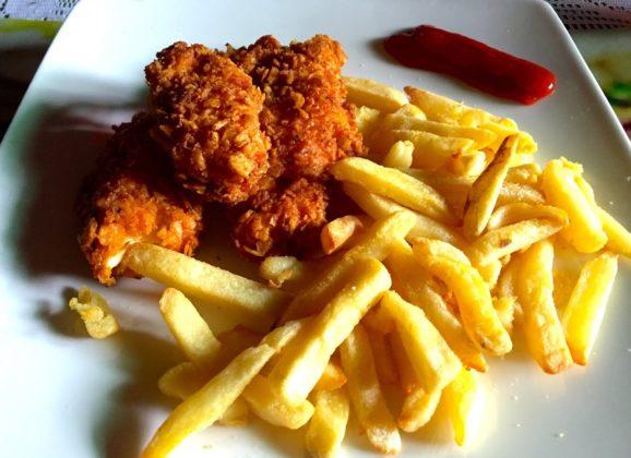 Pechuga de pollo crocante