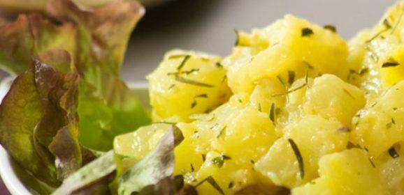 Receta de ensalada de papas con finas hierbas